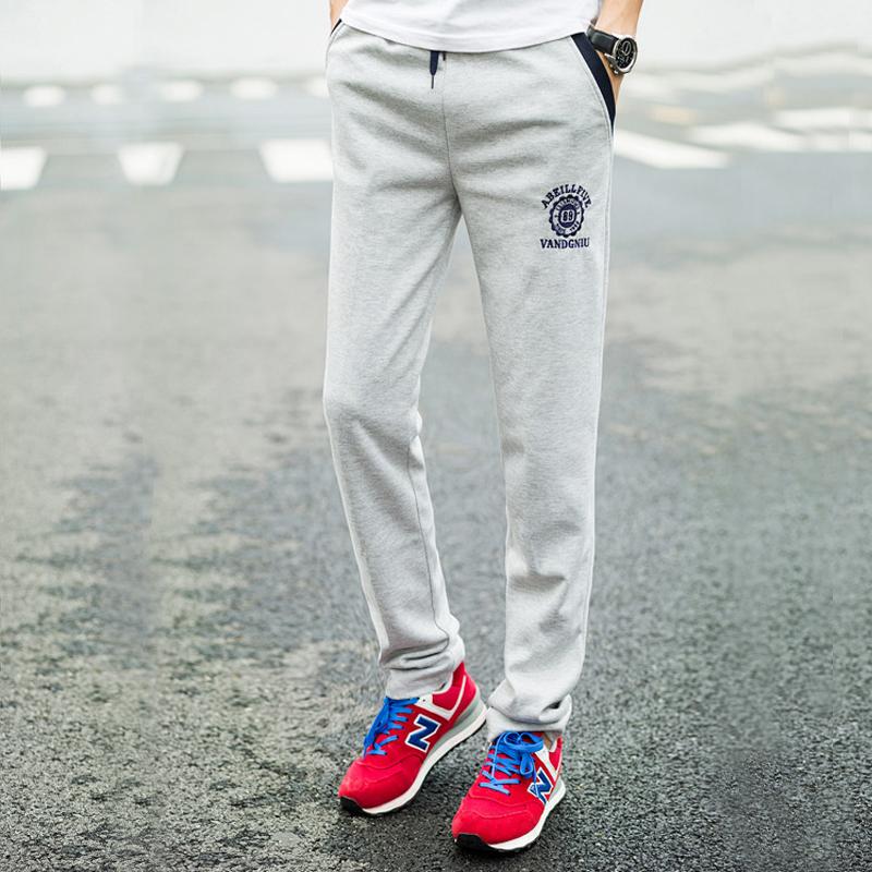 运动裤男春夏薄款直筒裤休闲裤韩版修身男士大码卫裤宽松潮男长裤
