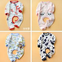 特价婴儿连体衣春夏装纯棉开裆爬服装宝宝内衣打底衣服新生儿哈衣