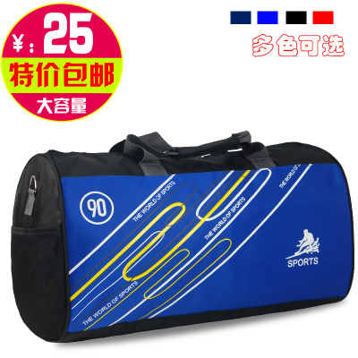 Free shipping authentic new sports men and ladies handbag bag large capacity bag cylindrical drum package fitness package