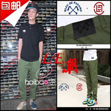 Edison Chen in same Shawn yue chao army green trousers Package mail city boy pants clot slacks Men's pants