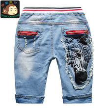 2015 children children's summer wear boys jeans shorts in the summer of 7 minutes of pants pants of the 3-4-5-3-4-5-9