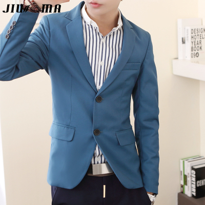JIUMA2014 new trend of young Korean men's suits Autumn Slim Twill leisure suit jacket men