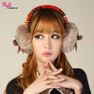 Dai show love winter oversized bow ear package earmuffs lovely female winter tide plush earmuffs ear warm ear warmer