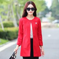 2015秋季新品外套开衫新款韩版女装毛呢外套中长款秋天外衣大衣