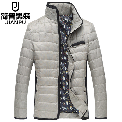 Jane P 2014 men Slim Down a short section of thick tide men men's winter down jacket winter coat Korean version of