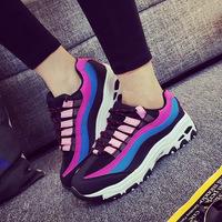 2015秋季韩版女士厚底跑步鞋学生休闲运动鞋子透气旅游鞋板鞋潮夏