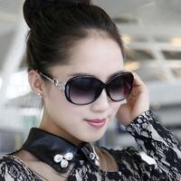 太阳镜女士明星复古渐变太阳镜复古墨镜防紫外线圆脸眼镜可配近视