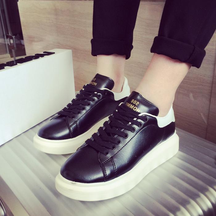子俊新款增高男鞋子韩版潮流休闲情侣鞋松糕白鞋厚底运动板鞋潮鞋