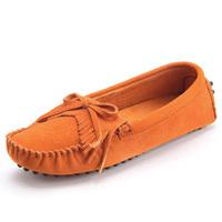 罗玛羊反绒皮英伦时尚女士休闲鞋流苏皮鞋平底女鞋单鞋豆豆鞋