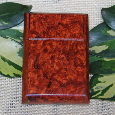 Special rosewood burl mahogany Authors / gall to spend exquisite wooden portable clamshell 7 mounted cigarette