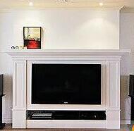 大理石壁炉美式石雕壁炉天然白色石材装饰柜电视柜定制简约古典特