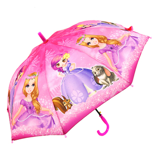 学生自动晴雨伞男女小孩公主伞儿童长柄遮阳防风伞促销