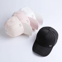 帽子女夏天韩版百搭鸭舌帽时尚可爱棒球帽遮阳防晒情侣弯沿帽子潮