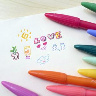 日韩国中性笔水性笔36色自选颜色慕娜美3000彩色签字纤维水笔红笔