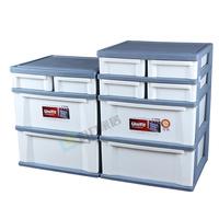 天马正品固定抽屉柜三层塑料收纳柜儿童四层衣柜大号塑料收纳箱