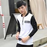 卫衣男学生韩版潮2016秋季新款立领套头外套男士青年长袖运动衣厚