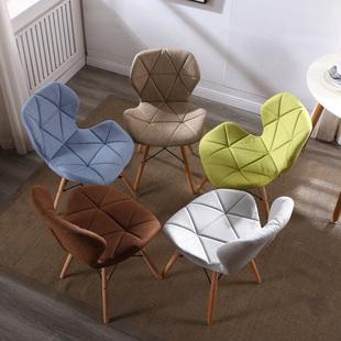 北欧椅子现代简约餐椅家用化妆靠背凳子ins网红伊姆斯懒人书桌椅