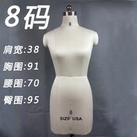服装模特道具人台展示衣架立体裁剪婚纱女装棉麻橱窗半身打版人台