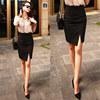 不规则包臀裙半身裙高腰性感短裙子春秋黑色OL工装职业包裙一步裙