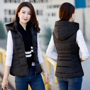 羽绒棉马甲女短款2018秋冬季加厚背心显瘦坎肩外套