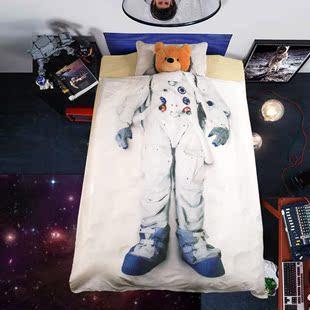 卡通3D儿童1.2米纯棉3件套宿舍床上用品三件套被套被单套件