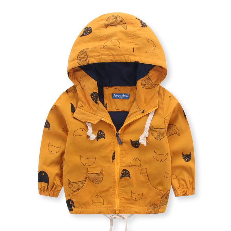 童裝2016新款男童秋款連帽卡通外套 兒童寶寶韓版百搭風衣外套圖片
