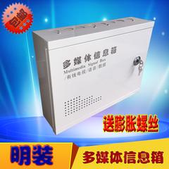 明装 带锁多媒体信息箱 监控箱 弱电箱 集线箱 400300110
