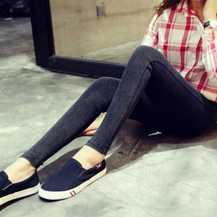 孕妇裤秋季外穿 韩版潮妈秋装怀孕期高弹力小脚裤 孕妇牛仔裤长裤