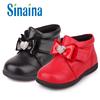 斯乃纳童鞋冬款SP 8B女童真皮幼小童夹棉皮鞋 棉鞋