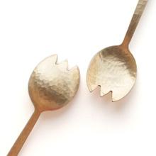 手工锤目纹纯铜勺日式餐具搅拌勺西餐餐勺家用吃饭勺子叉子补铜