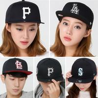 韩国专柜HATSON正品代购 17新NY棒球帽男女平沿帽嘻哈帽字母