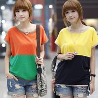 夏天韩版女装夏季宽松显瘦韩国女版中学生短袖t恤衫t血女士上衣服