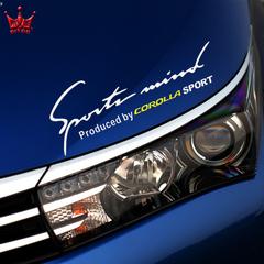 丰田卡罗拉RAV4锐志凯美瑞雷凌机盖灯眉改装饰汽车贴纸个性拉花贴