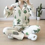 秋季冬季月子服秋冬加厚产后纯棉全棉孕妇保暖中厚夹棉产妇睡衣厚