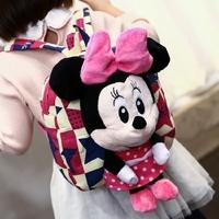 韩国儿童帆布幼儿园书包女宝宝1-3-5岁小孩可爱米妮双肩零食背包2