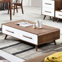 北欧茶几电视柜组合套装整装 客厅成套家具 现代简约方形实木茶几