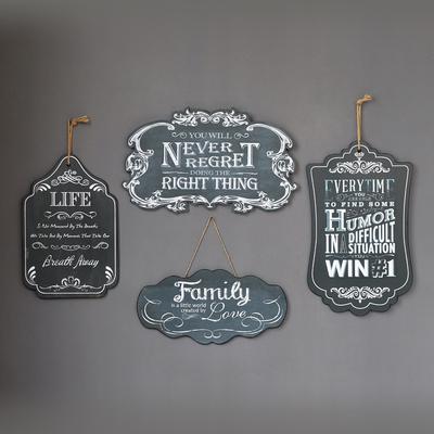 美式法式乡村复古酒吧咖啡店英文字母黑板装饰壁挂件墙面壁饰挂牌图片