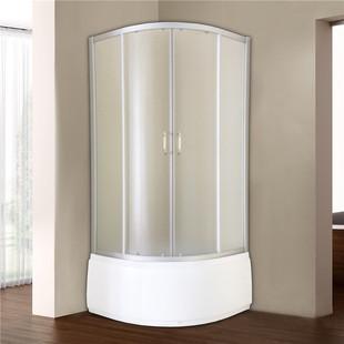 法兰诺简易淋浴房带浴缸家用弧扇形卫浴泡澡洗浴房玻璃沐浴房玻璃