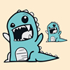 可爱卡通小怪兽热转印柯式烫画图案DIY手工艺衣服补丁布装饰贴花