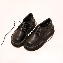 日系软妹鞋复古学院风系带厚底松糕鞋森系原宿百搭单鞋女鞋