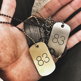 Uniform Experiment Dog Tag Necklace 闪电83号身份方牌吊坠项链