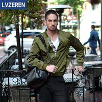 2016年新款男士大码欧美风棒球服修身立领百搭夹克潮