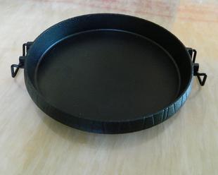 铸铁电磁炉煤气烤盘 家用不粘无烟烤肉锅铁板烧 西餐牛排烧烤盘子