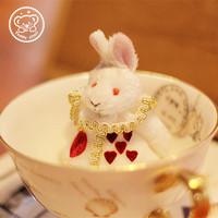 手工可爱毛绒玩具爱丽丝三月兔公仔玩偶挂件包包挂手机链车挂车饰