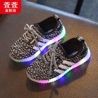 男童网面秋鞋3女童运动鞋2春秋宝宝鞋子1儿童休闲鞋6小孩4岁5童鞋