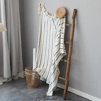 全棉镂空针织空调毯夏季单人客厅午睡毯披肩沙发毯宝宝盖毯毛线毯