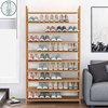 大鞋架经济型简易多层超大容量实木家用收纳架多功能高层10层鞋柜