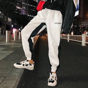 夏季薄款裤子男潮流街头hiphop宽松个性嘻哈欧美街舞九分