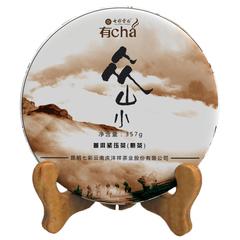 七彩云南众山小普洱茶熟茶饼茶357g海拔1800米普洱熟饼茶