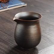 九木 纯手工 柴烧公道杯 柴烧粗陶茶海 功夫茶具茶滤分茶器 过滤